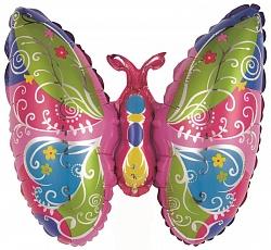 Красивая бабочка на палочке