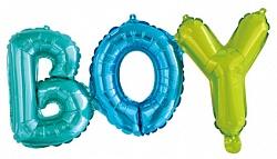 Надпись BOY (Мальчик) на выписку из шаров
