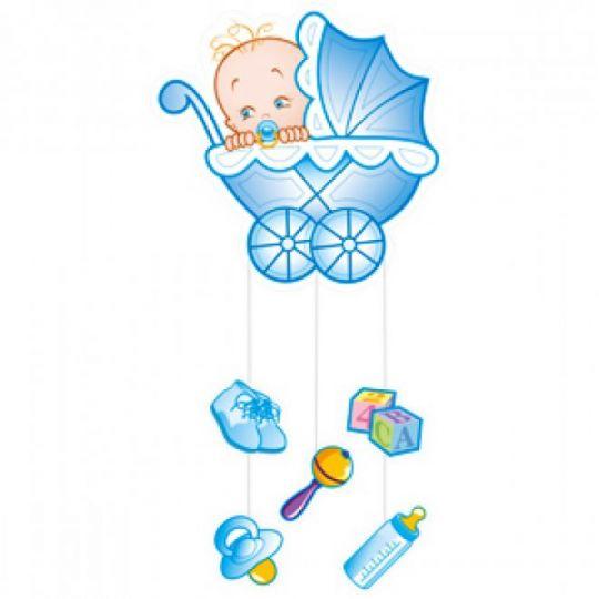 Плакат с подвесками Коляска для мальчика