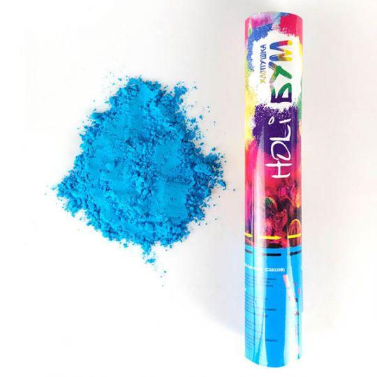 Пневмохлопушка с краской холи синего цвета