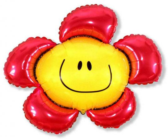 Смайл-цветок на палочке
