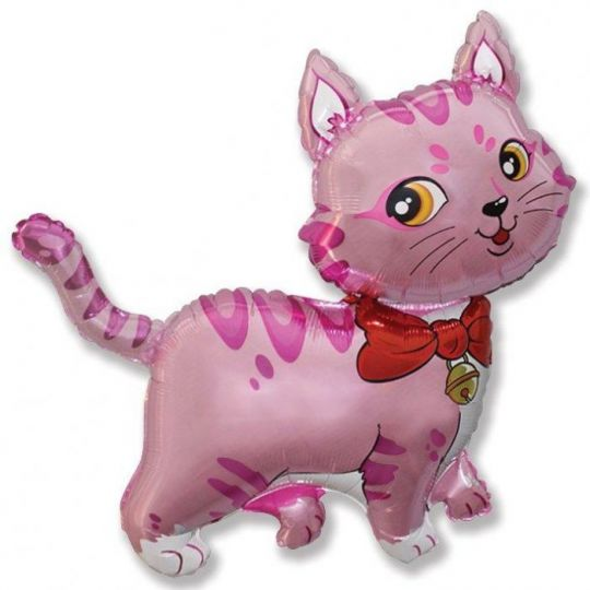 Котенок розовый на палочке
