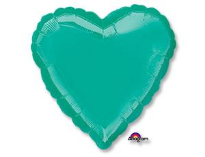Большое бирюзовое сердце