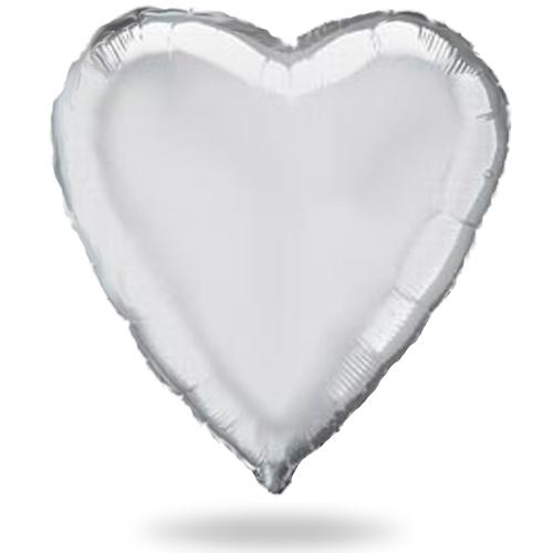 Большое серебряное сердце