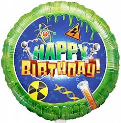 Естесственнонаучный шар С Днем Рождения