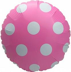 Розовый шар в крупный горошек