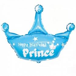 Корона С Днем Рождения Принц фольгированный шар с гелием