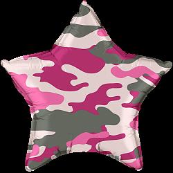Звезда камуфляж розовый