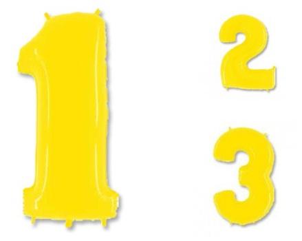 Цифры 1-5 ярко-жёлтые