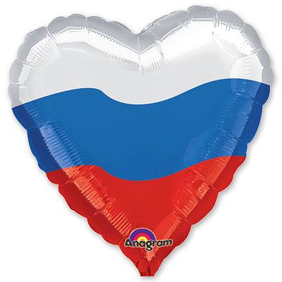 Сердце патриотическое Триколор
