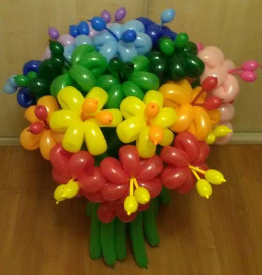 Радужный букет из 25 цветов